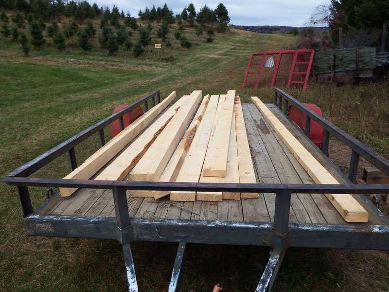 Lumber from Colorado Blue Spruce
